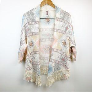 MAUVE Tribal Aztec Knit Kimono Sweater S